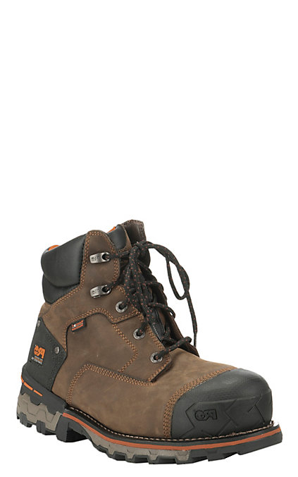 entire collection ever popular vast selection Timberland PRO Boondock Men's Brown Waterproof Round Composite Toe 6