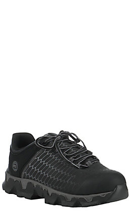 Timberland PRO Men's Powertrain Black Round Alloy Toe Lace Up Work Shoe