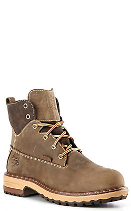 Timberland PRO Women's Hightower Coffee Brown Round Alloy Toe Lace Up Work Boot