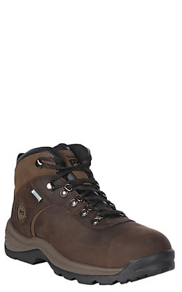 "Timberland PRO Men's Brown Nubuck Waterproof Round Steel Toe 6"" Lace Up Work Boots"