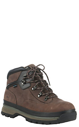 Timberland PRO Men's Euro Hiker Brown Round Alloy Toe Lace Up Work Boot