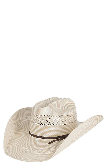859b84fb4 American Hat Tuf Cooper Natural & Sand Two Tone Vent Straw Cowboy Hat