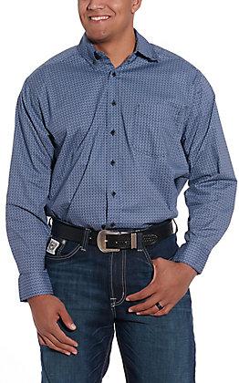 Tuf Cooper by Pandhandle Indigo Geo Print Western Shirt
