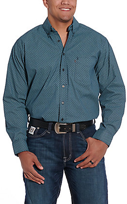 Tuf Cooper by Pandhandle Jade Geo Print Western Shirt