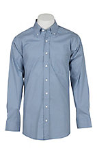 Panhandle Men's Tuf Cooper Performance Stretch Light Blue Square Geo Print L/S Western Fashion Shirt