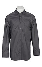 Panhandle Men's Tuf Cooper Performance Stretch Black Geo Print L/S Western Shirt