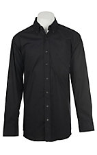 Panhandle Men's Tuf Cooper Performance Stretch Black Dot Print L/S Western Shirt
