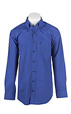 Panhandle Men's Tuf Cooper Royal Blue Print L/S Western Shirt