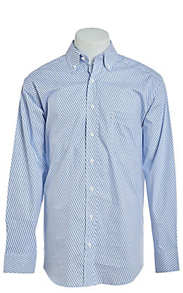 Tuf Cooper by Pandhandle Blue Geo Dot Print Western Shirt