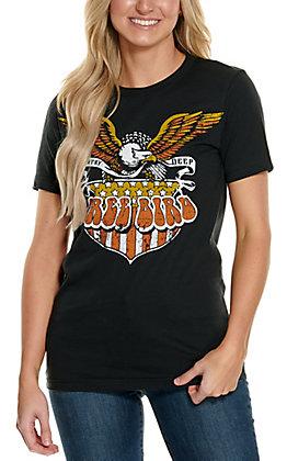 Country Deep Women's Black Free Bird Short Sleeve T-Shirt