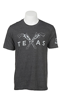 Mason Jar Label Charcoal Crossed Guns T-Shirt