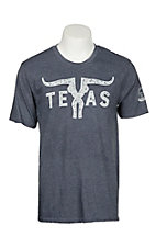 Mason Jar Label Men's Vintage Navy Texas Horns S/S T-Shirt
