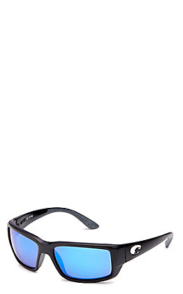 Costa Fantail Blue Mirror Blackout Sunglasses