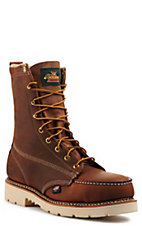 Thorogood Men's American Heritage Crazy Horse 8 in. Tobacco Moc Steel Toe
