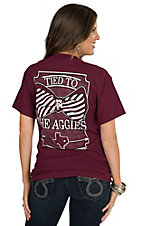 Girlie Girl Original Women's Maroon Tied To The Aggies Short Sleeve Tee
