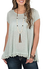 Wishlist Women's Sage Short Sleeve Knit Top