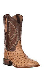 Tony Lama Men's Magnar Full Quill Ostrich Upper Exotic Square Toe Western Boots