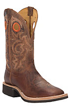 Tony Lama Men's Tan Goat Wide Square Toe Crepe Boots