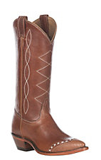 Tony Lama Women's Retro Peanut Lizard Wingtip Boot