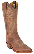 Tony Lama El Paso Men's Tan Saigets Brown Worn Goat Snip Toe Western Boots