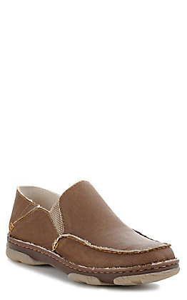 Tony Lama 3R Men's Gator Khaki Camino Canvas Slip On Shoe