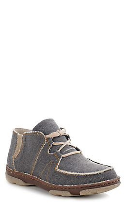 Tony Lama 3R Men's Charcoal Grey Canvas Lace Up Casual Shoe