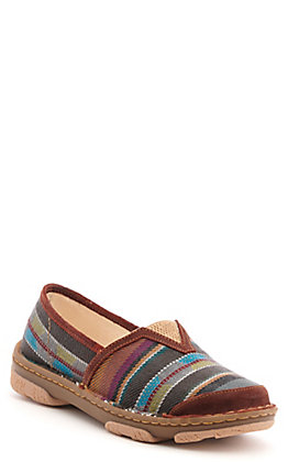 Tony Lama Women's Brick Serape Print Slip On Casual Shoes