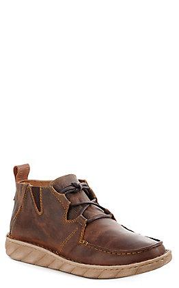 Tony Lama 3R Men's Brown Leather Moc Lace Up Casual Shoe