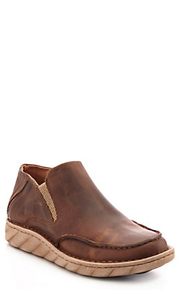 Tony Lama Men's Brown Cowhide Casual Slip On Shoe