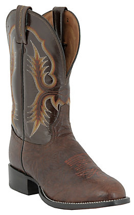 Tony Lama Men's Chocolate Shrunken Shoulder Stockman Boots