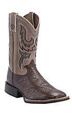 Tony Lama 3R Series Men's Chocolate Elephant Grain with Banner Austin Top Double Welt Square Toe Boots