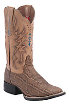 Tony Lama 3R Women's Pecan Elephant with Blush Austin Top Square Toe Western Boot