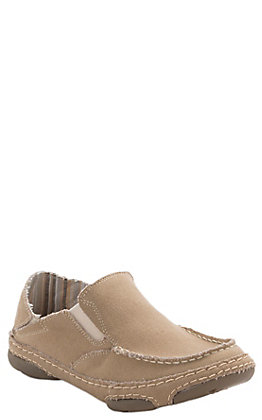 Tony Lama Women's Lindale Wheat Natural Canvas Slip On Casual Shoes