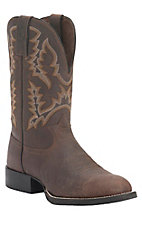 Tony Lama 3R Men's Brown Pitstop Round U-Toe Western Boots