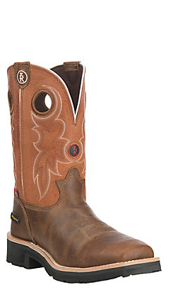 Tony Lama Men's 3R Series Midland Tan and Melon Waterproof Square Composite Toe Work Boot