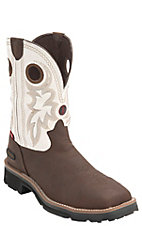 Tony Lama 3R Men's Bark Cheyenne w/ White Top Composite Square Toe Waterproof Work Boots