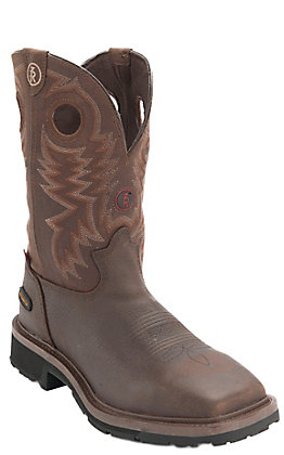 Tony Lama 3R Men's Briar Grizzly Composite Square Toe Waterproof Work Boots