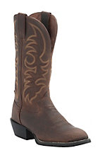 Tony Lama 3R Series Mens Brown Pitstop Double Welt Round R Toe Western Boot