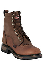 Tony Lama Men's Copper Waterproof Pitstop Work Performance Lace-Up Packer Boots