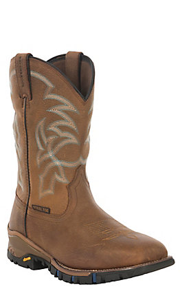 Tony Lama Men's Roustabout TLX EH Wheat Square Steel Toe Work Boot
