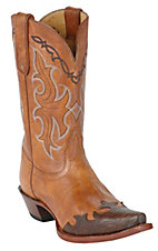 Tony Lama Ladies Vaquero Tan Santa Fe Wingtip Western Boot