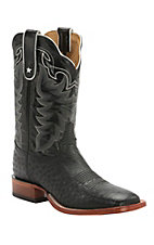 Tony Lama Men's Black Smooth Ostrich Exotic Square Toe Western Boots