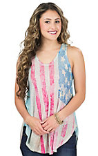 Karlie Women's Water Color Flag Tank Top