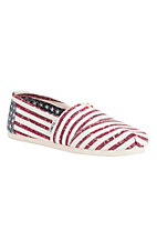 TOMS Women's American Flag Canvas Casual Shoe