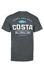 Costa Heather Charcoal Top Water Short Sleeve T-Shirt