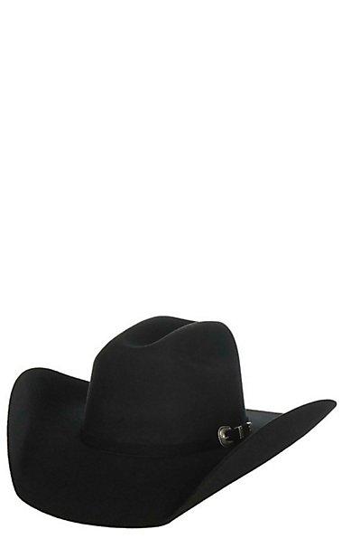 Cavender s Cowboy Collection 3X Black Premium Wool Cowboy Hat ... af88f37198e