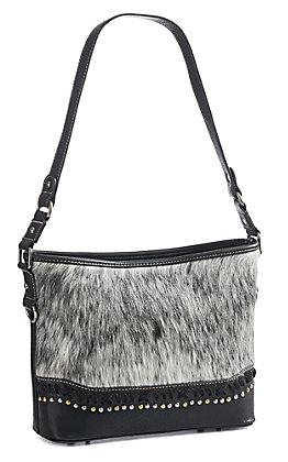 Trinity Ranch Women's Black Cowhide Purse