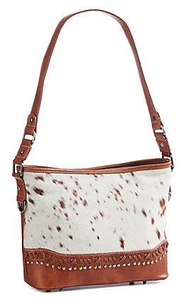 Trinity Ranch Women's Brown Cowhide Purse