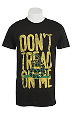 Southern Moonshine Men's Black Don't Tread On Me T-Shirt