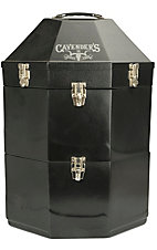 Equine Carriers Black Classic Triple Hat Can